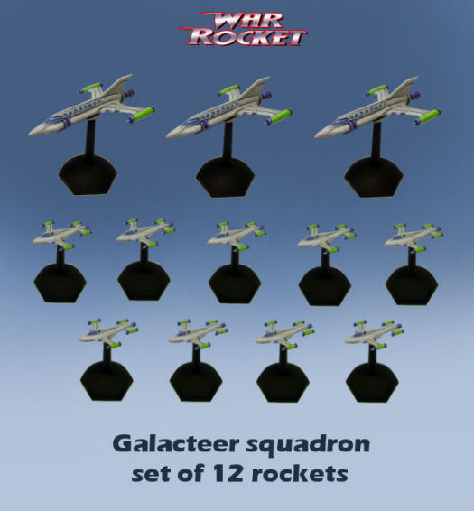 Galacteer Squadron (set of 12 rockets)