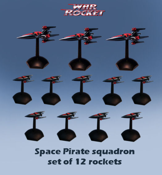 Space Pirate Squadron (set of 12 rockets)
