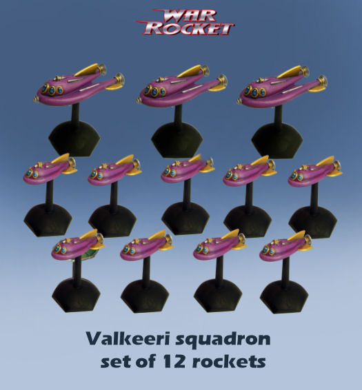 Valkeeri Squadron (Set of 12 Rockets)