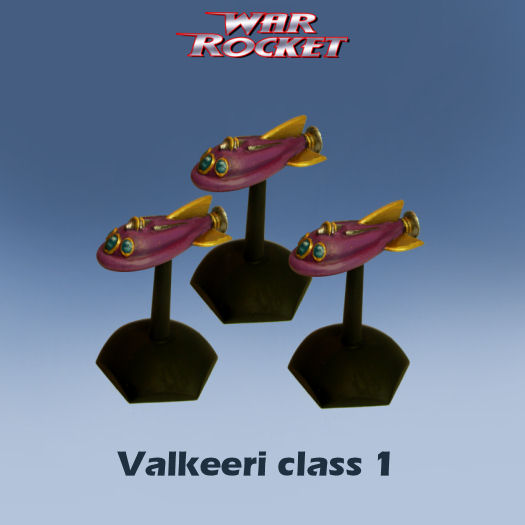 Valkeeri Class 1 (pack of 3 rockets)