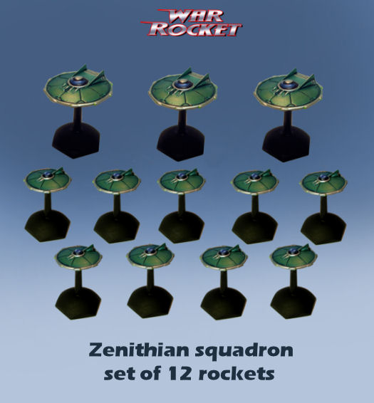 Zenithian Squadron (set of 12 rockets)